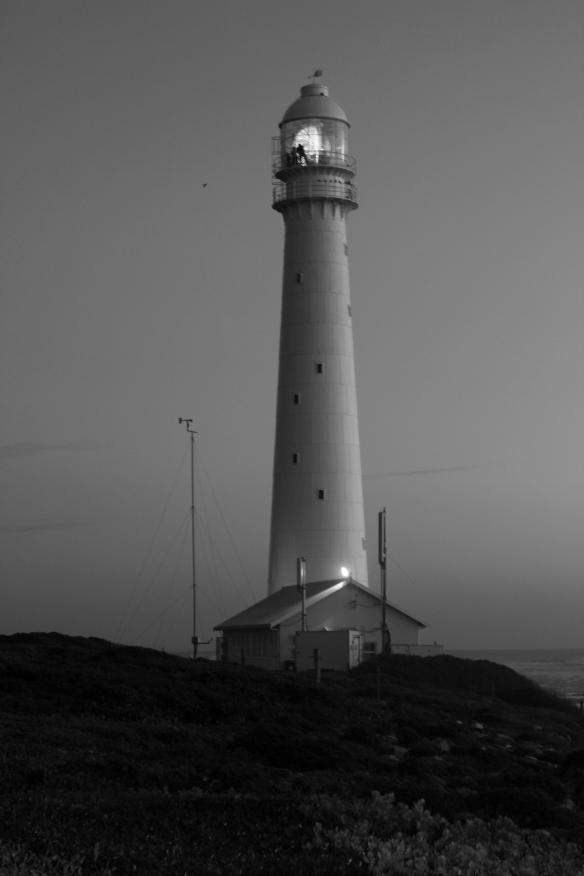 Slangkop nightfall in black and white