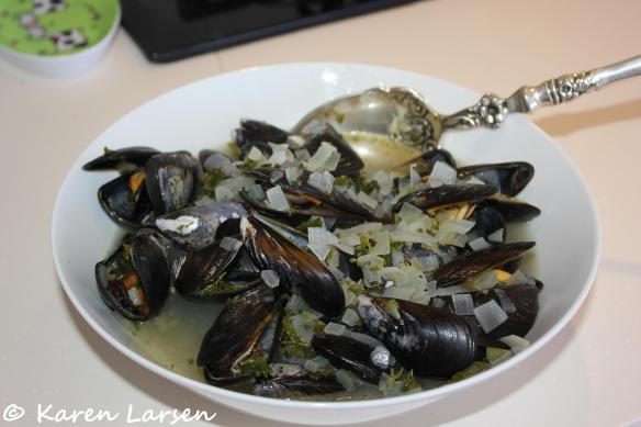 Moules marinières - a Normandy classic dish