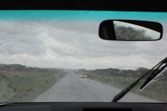 A downpour near Otjiwarongo