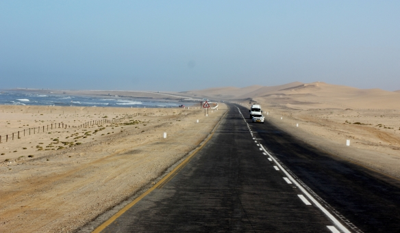 The costal road between Walvis Bay and Swakopmund